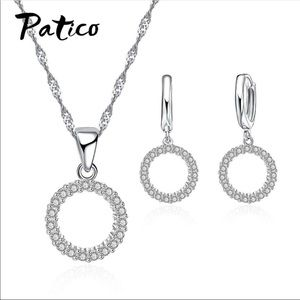 Dainty Earring Necklace Set .925 Silver